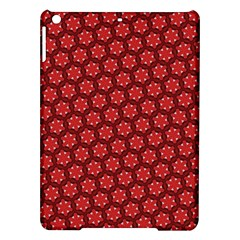 Red Passion Floral Pattern Ipad Air Hardshell Cases