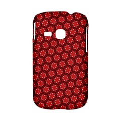 Red Passion Floral Pattern Samsung Galaxy S6310 Hardshell Case