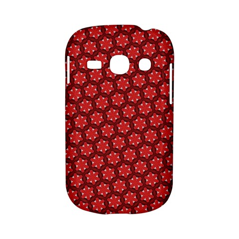 Red Passion Floral Pattern Samsung Galaxy S6810 Hardshell Case