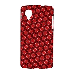 Red Passion Floral Pattern LG Nexus 5