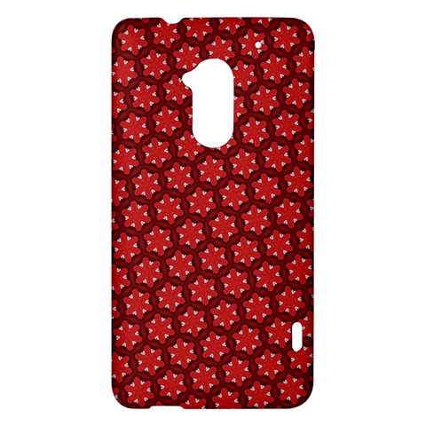 Red Passion Floral Pattern HTC One Max (T6) Hardshell Case