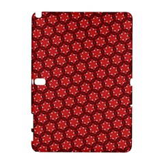 Red Passion Floral Pattern Samsung Galaxy Note 10 1 (p600) Hardshell Case