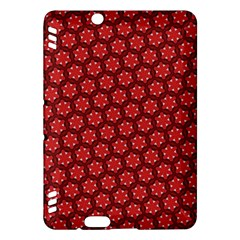 Red Passion Floral Pattern Kindle Fire Hdx Hardshell Case