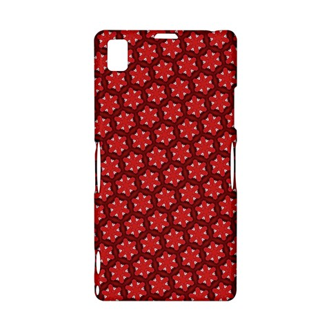 Red Passion Floral Pattern Sony Xperia Z1