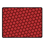 Red Passion Floral Pattern Double Sided Fleece Blanket (Small)  50 x40 Blanket Back