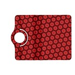 Red Passion Floral Pattern Kindle Fire HD (2013) Flip 360 Case Front