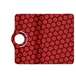 Red Passion Floral Pattern Kindle Fire HDX 8.9  Flip 360 Case Front