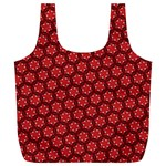 Red Passion Floral Pattern Full Print Recycle Bags (L)  Front