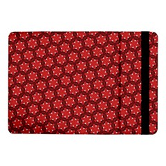 Red Passion Floral Pattern Samsung Galaxy Tab Pro 10 1  Flip Case
