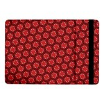 Red Passion Floral Pattern Samsung Galaxy Tab Pro 10.1  Flip Case Front