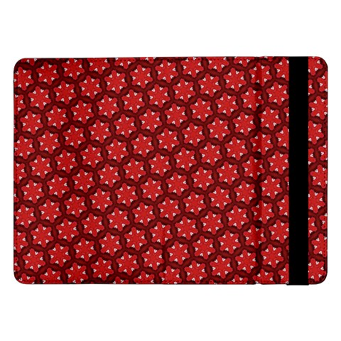 Red Passion Floral Pattern Samsung Galaxy Tab Pro 12.2  Flip Case