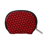 Red Passion Floral Pattern Accessory Pouches (Small)  Back