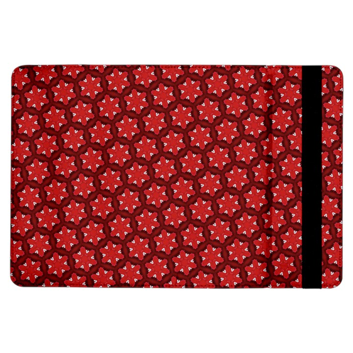 Red Passion Floral Pattern iPad Air Flip