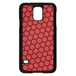 Red Passion Floral Pattern Samsung Galaxy S5 Case (Black) Front