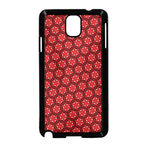 Red Passion Floral Pattern Samsung Galaxy Note 3 Neo Hardshell Case (Black)