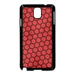 Red Passion Floral Pattern Samsung Galaxy Note 3 Neo Hardshell Case (Black) Front