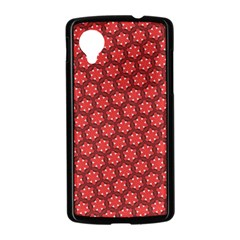 Red Passion Floral Pattern Nexus 5 Case (Black)