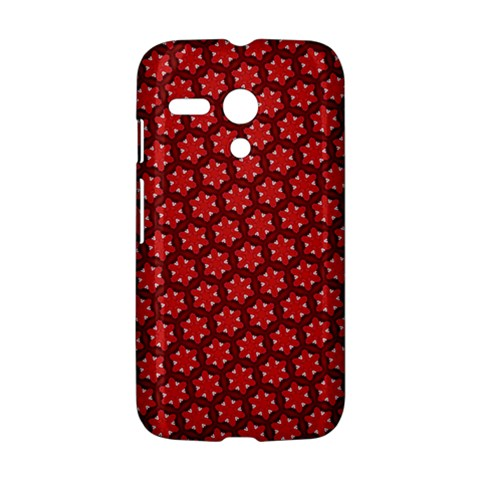 Red Passion Floral Pattern Motorola Moto G