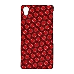 Red Passion Floral Pattern Sony Xperia Z2