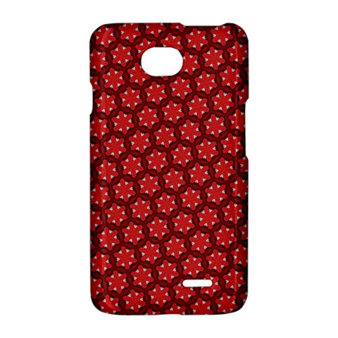 Red Passion Floral Pattern LG Optimus L70
