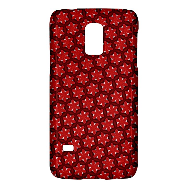 Red Passion Floral Pattern Galaxy S5 Mini