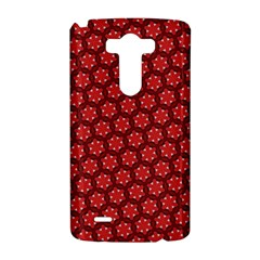Red Passion Floral Pattern LG G3 Hardshell Case