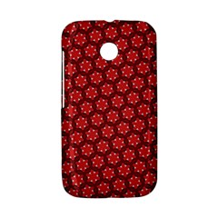 Red Passion Floral Pattern Motorola Moto E