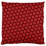 Red Passion Floral Pattern Standard Flano Cushion Case (One Side) Front