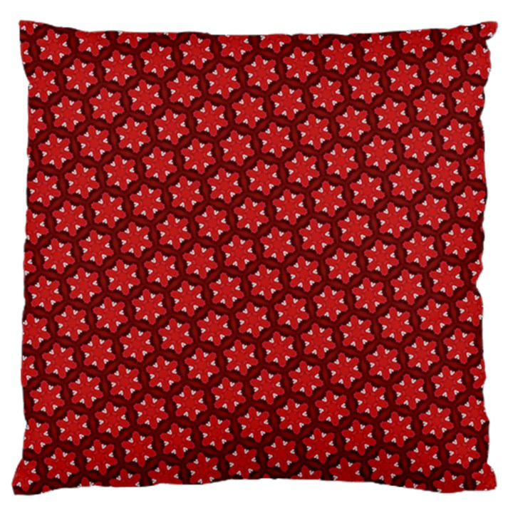 Red Passion Floral Pattern Standard Flano Cushion Case (One Side)