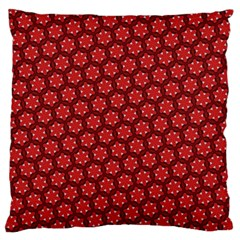 Red Passion Floral Pattern Large Flano Cushion Case (Two Sides)