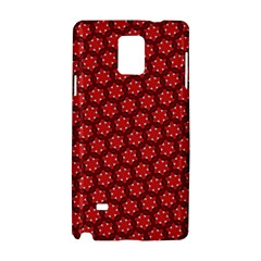 Red Passion Floral Pattern Samsung Galaxy Note 4 Hardshell Case