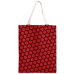 Red Passion Floral Pattern Classic Light Tote Bag