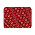 Red Passion Floral Pattern Double Sided Flano Blanket (Mini)  35 x27 Blanket Front