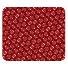 Red Passion Floral Pattern Double Sided Flano Blanket (small)
