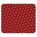 Red Passion Floral Pattern Double Sided Flano Blanket (Small)  50 x40 Blanket Back