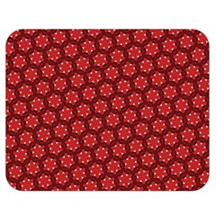 Red Passion Floral Pattern Double Sided Flano Blanket (Medium)