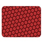 Red Passion Floral Pattern Double Sided Flano Blanket (Large)  80 x60 Blanket Front
