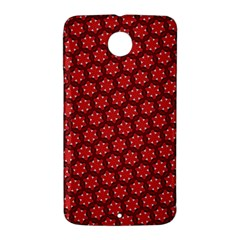 Red Passion Floral Pattern Nexus 6 Case (White)