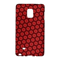 Red Passion Floral Pattern Galaxy Note Edge