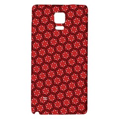Red Passion Floral Pattern Galaxy Note 4 Back Case