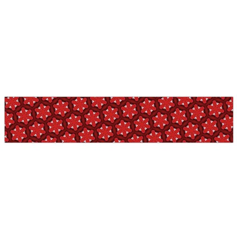 Red Passion Floral Pattern Flano Scarf (Small)