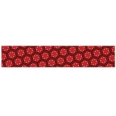 Red Passion Floral Pattern Flano Scarf (Large)