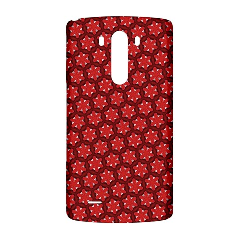 Red Passion Floral Pattern LG G3 Back Case