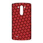 Red Passion Floral Pattern LG G3 Back Case Front