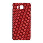 Red Passion Floral Pattern Samsung Galaxy Alpha Hardshell Back Case Front