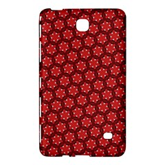 Red Passion Floral Pattern Samsung Galaxy Tab 4 (7 ) Hardshell Case