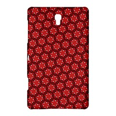 Red Passion Floral Pattern Samsung Galaxy Tab S (8 4 ) Hardshell Case