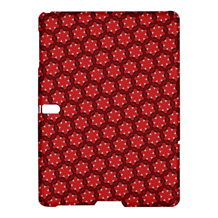 Red Passion Floral Pattern Samsung Galaxy Tab S (10.5 ) Hardshell Case