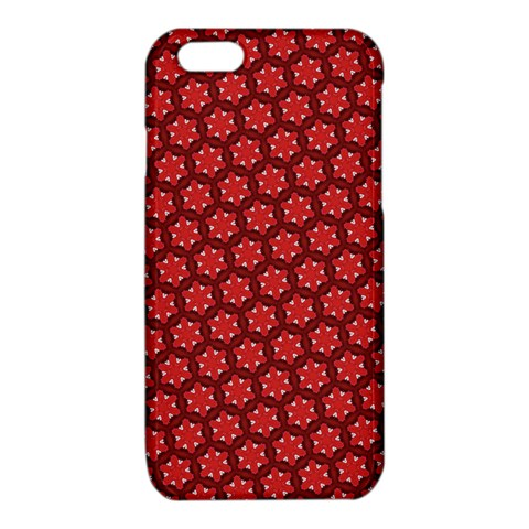 Red Passion Floral Pattern iPhone 6/6S TPU Case
