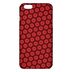 Red Passion Floral Pattern Iphone 6 Plus/6s Plus Tpu Case
